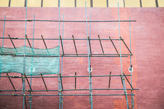 Réparation d'un mur de bâtiment Photographie stock