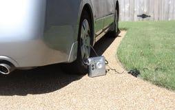 Réparation d'un pneu crevé image libre de droits