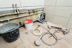 Réparation dans la salle de bains Image stock