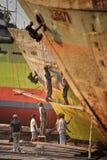 Réparation de bateau photos stock
