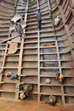 Réparation de bateau photographie stock