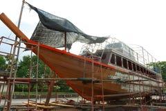 Réparation de bateau Images libres de droits