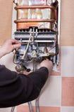 Réparation de chauffe-eau de ménage Images libres de droits