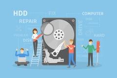 Réparation de disque dur illustration stock