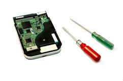 Réparation de disque dur Images stock