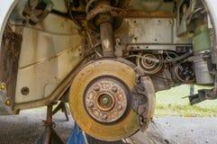 Réparation de disques de frein Photographie stock