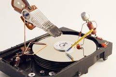 Réparation de HDD Images libres de droits