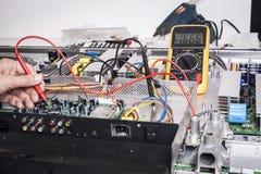 Réparation de l'électronique image stock