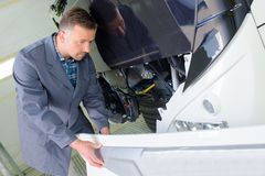Réparation de l'avant d'autobus Photo libre de droits