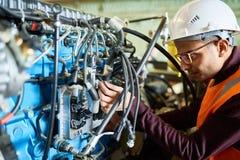 Réparation de l'excavatrice hydraulique System images stock