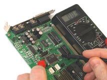 Réparation de la carte d'ordinateur Photo libre de droits