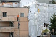 Réparation de la putréfaction d'humidité de bâtiment photos libres de droits