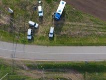 Réparation de la section de gazoduc passant par la voie d'eau Réparez le travail Photo libre de droits