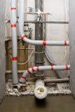 Réparation de pipes photographie stock libre de droits