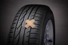 Réparation de pneu (concept) Photographie stock