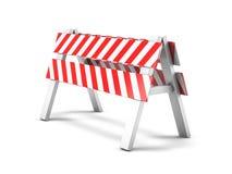 Réparation de route, panneau routier en construction 3d Photos libres de droits