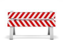 Réparation de route, panneau routier en construction 3d Photo libre de droits