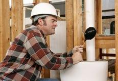 Réparation de toilette de tuyauterie Photo libre de droits