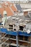 Réparation de toit Photographie stock libre de droits