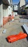 Réparation de trottoir photos libres de droits