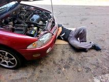 Réparation de voiture Photographie stock libre de droits