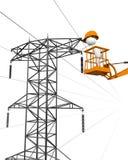 Réparation des fils électriques. Photographie stock libre de droits