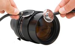 Réparation des lentilles photographiques images libres de droits