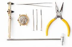 Réparation des montres photos libres de droits