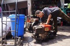 Réparation des moteurs diesel Photographie stock libre de droits
