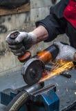 Réparation des tuyaux à haute pression photographie stock