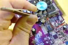 Réparation du panneau d'ordinateur Images libres de droits