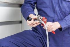 Réparation du tuyau Photo libre de droits