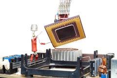 Réparation ou mise à niveau d'ordinateur Photographie stock