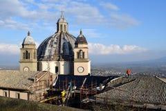 Réparations à la villa de l'été du pape, Montefiascone, Viterbe, Italie photos stock