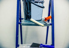 Réparations dans l'appartement Accessoires pour des peintures Images libres de droits