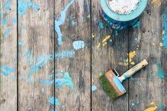 Réparations dans l'appartement Accessoires pour la peinture Images libres de droits