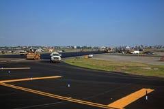 Réparations de piste d'aéroport Photo stock