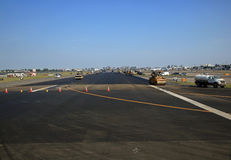 Réparations de piste d'aéroport Photos stock