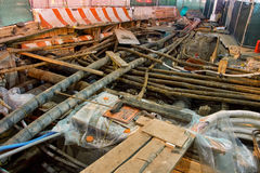 Réparations de service souterraines Photos stock