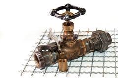 Réparations de tuyauterie de secours Photos stock