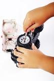 Répare le jouet de voiture Photo libre de droits