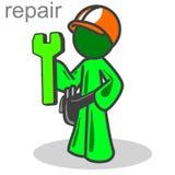 Réparez l'homme Illustration de Vecteur