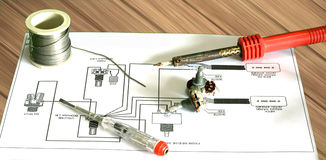 Réparez la guitare électrique Image libre de droits