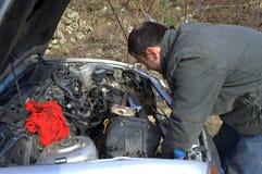 Réparez la voiture Photos libres de droits