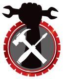 Réparez le logo de mécanicien illustration de vecteur