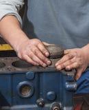 Réparez le moteur de voiture Photo libre de droits