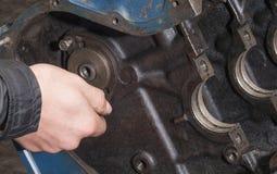 Réparez le moteur de voiture Photos libres de droits