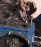 Réparez le moteur de voiture Images libres de droits