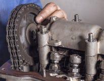 Réparez le moteur de voiture Images stock