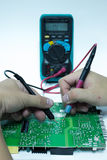 Réparez le panneau de carte PCB Images stock